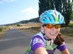 Lauren Riding on the Burke-Gilman Trail
