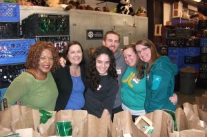 Food Bank Manager Extraordinaire, Ava Dowell and some of the awesome employees of EVO